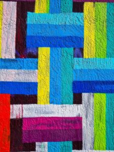 green blue and red abstract painting